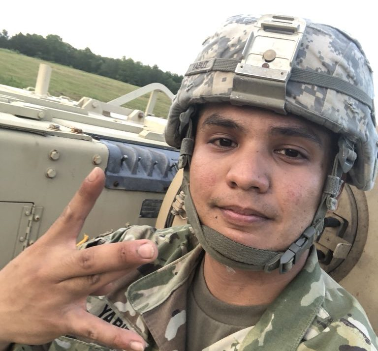 This selfie was one of several posts Yabut tweeted from inside the armored vehicle which he is alleged to have stolen from For Pickett.