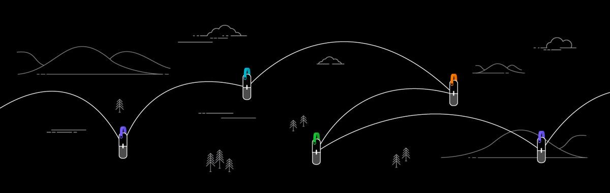 Illustration of goTenna Mesh network